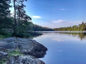 Morning lake at Tyresta
