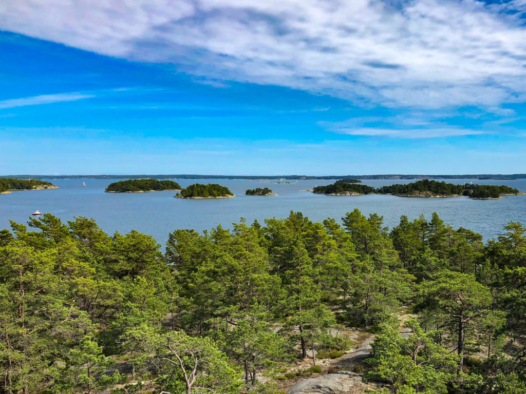 View over Stockholm Archipelago from the lookout tower