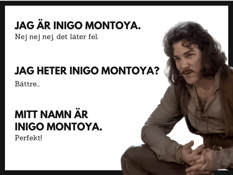 Swedish translations for Princess Bride movie quotes