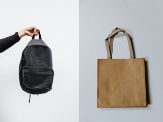 Different types of bags, describing the difference between a ryggsäck and tygpåse
